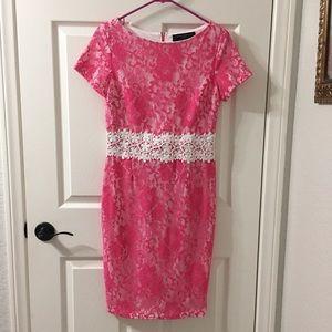 Paper Dolls London Pink White Lace Dress